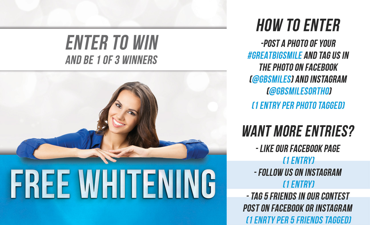 Details for how to enter for free whitening